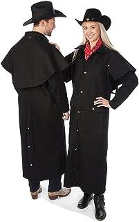 Sunrise Outlet Adult Black Denim Cotton Western Duster Jacket-Large