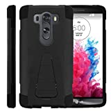TurtleArmor | Compatible with LG V10 Case | LG G4 Pro Case [Dynamic Shell] Hybrid Dual Layer Hard Shell Cover Kickstand Silicone Case - Black