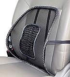 Mesh Lordosenstütze für Auto Bürostuhl | Lendenwirbelstütze mit Massage-Knoten | atmungsaktive Rückenstütze | Rückenschmerzen Linderung | Rückenkissen zur Haltungskorrektur | Lendenkissen