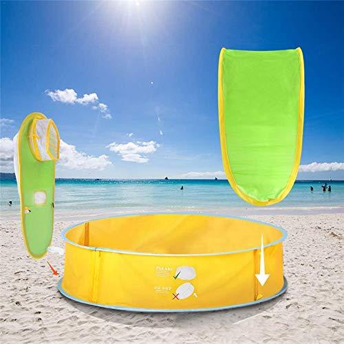 Strandtent voor baby's, pop-up babystrandtent, draagbare opvouwbare schaduwpool, uv-bescherming, voor kleine kinderen, strandtent en babyzwembad, perfect voor outdoor-strandvakantie.