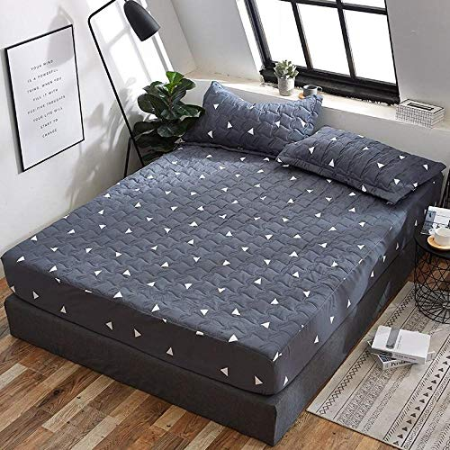 Bed Sheet Fitted Sheets Mattress Home Textile Supplies Grinding Clip Cotton Bed Cover Printed Bed Cover Mattress Protective Cover Waterproof Single Bed Single Piece-Starry Sky_A Pair Of Matching Pil