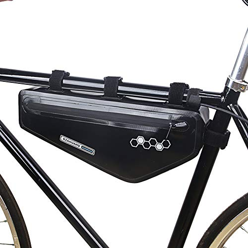 yueydengsun RZAHUAHU - Bolsa para manillar de bicicleta universal, bolsa impermeable para bicicleta con logotipo reflectante