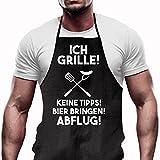 Shirtoo Grillschürze Ich Grille - Lustiges Geschenk für Männer und Grillmeister - 2