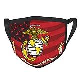 Reusable Face-mask Eagle Globe Anchor Marine American Flag Windproof Adjustment Breathable Fashiona for Men Women