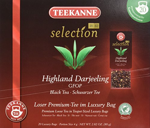 Teekanne Selection 1882 im Luxury Bag - Darjeeling - zart, blumig, 20 Portionen, 1er Pack (1 x 80 g)