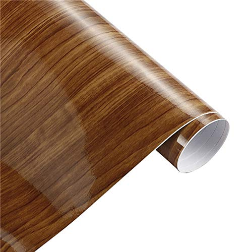 Sankuai 1pc 30 * 100cm Glossy Holzmaserung PVC-Vinylfilm-Auto Interne Dekoration Aufkleber Wrap Wasserdicht Holzmaserung Texturiert Abziehbild-Auto-Styling (Farbe : 9454 F, Größe : 30x100cm)