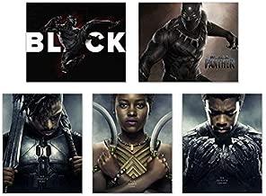 Crystal Black Panther (2018) Poster Prints - Set of Five Avengers Marvel Comics Wakanda Decor Wall Art Photos 8x10 T'Challa - Killmonger - Nakia