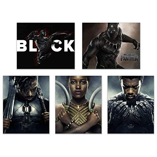 Crystal Black Panther (2018) Poster Prints - Set of 5 (8x10 Inches) Glossy Wall
