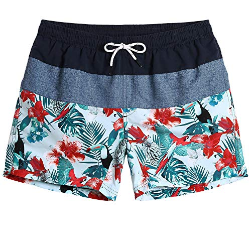 Boys Quick Dry Beach Board Shorts Love Softball Printing Kids Swim Trunks with Mesh Lining