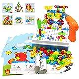 Akokie Juguetes Montessori Puzzles Rompecabezas Bloques Construccion Niños con Taladros Juegos...
