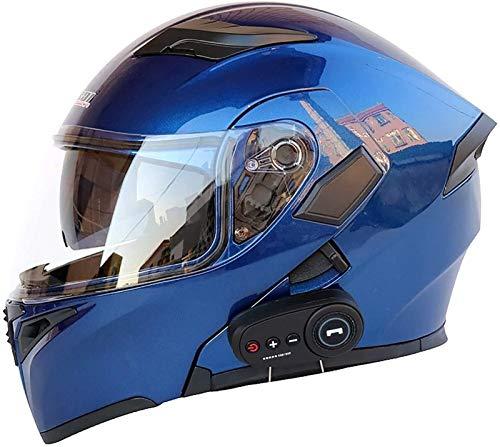 Casco de motocicleta, Bluetooth Cascos integrados integrados Modulares integrados Visores duales Motorcross Cascos Construidos Ligero Ligero aprobado Anti-niebla Doble Visera Locomotora Cruiser Racing