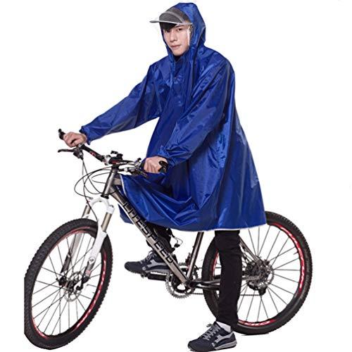 XGYUII Motorbike Poncho Regenjas Volwassen Waterdichte Regenjas Met Dubbele Rand en Mouwen Mannelijke en Vrouwelijke Enkele Helm Masker Regen Cover Veilig Rijden Outdoor Camping Reizen