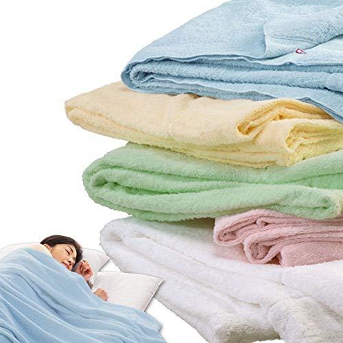 メーカー直販 今治タオルケット シングル 145×190cm 日本製 無地 パイルが抜けにくい 洗える 綿マイヤー織...