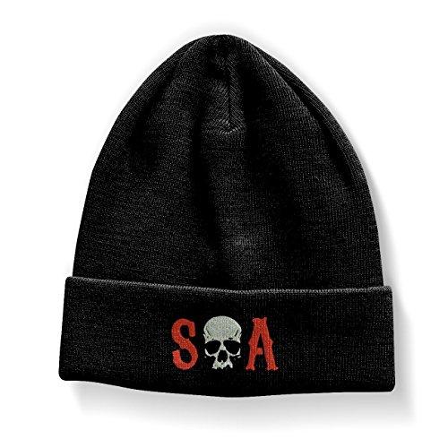 Officiellement Marchandises sous Licence S-O-A Brodé Bonnet (Noir)