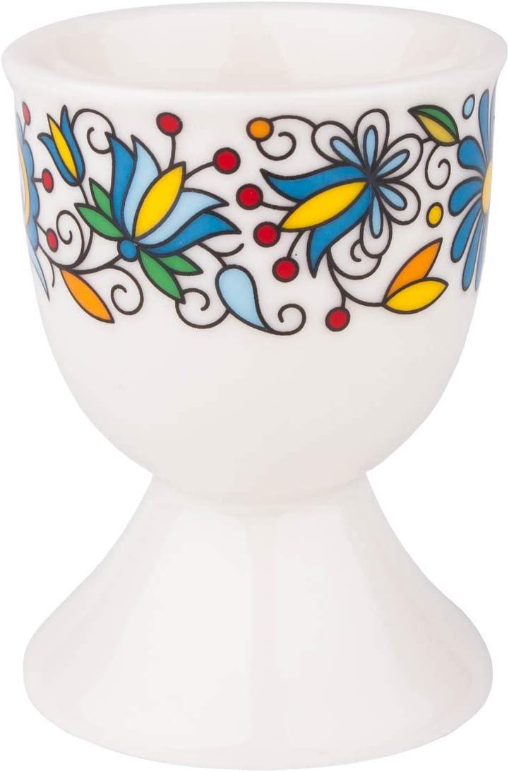 Polish Max 64% OFF Folk Art Porcelain Egg Cup Arlington Mall Kashubian