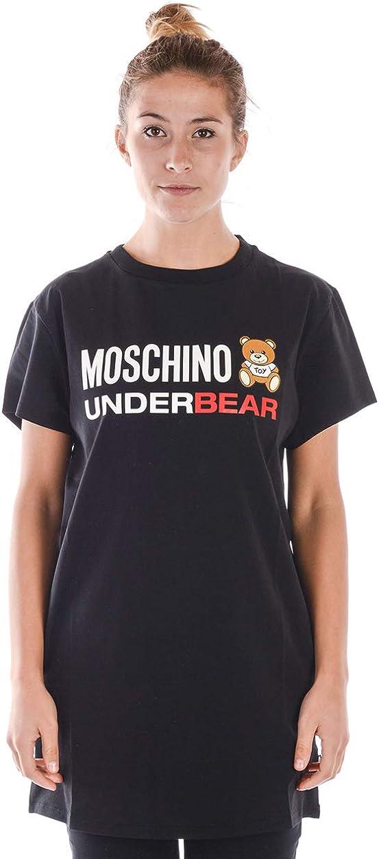 MOSCHINO Women's Black Bear Sleeve T-Shirt Popular brand Short El Paso Mall Logo