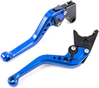 Motorcycle Short Brake Clutch Levers CNC Adjustable Aluminum for Yamaha YZF R1 2002-2003,YZF R6 1999-2004,FZ1 FAZER 2001-2005,R6S CANADA VERSION 2007-2009,R6S USA VERSION 2006-2009 (F14/Y688) SPL073