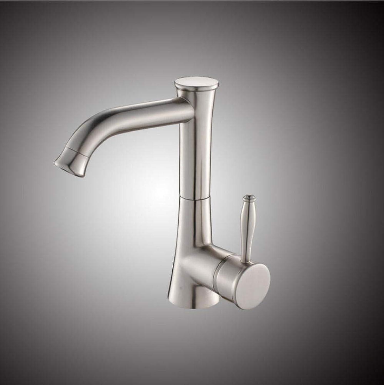 Floungey BadinsGrößetionen Waschtischarmaturen Küchenarmaturen Kupfer Gebürstet Bad Wasserhahn Waschbecken Wasserhahn Gebürstet Wasserhahn Drehbar Wasserhahn