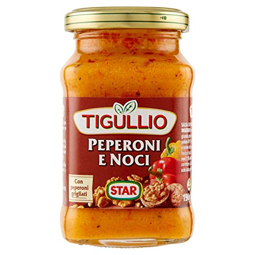 6x Star Tigullio GranPesto Pesto Peperoni e noci Paprika und Walnüsse 190g Sauce