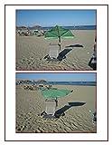REISE FÄCHERSCHIRM HELLGRÜN + SCHIRMHALTERUNG bis 35 mm Ø + 2 WIND - STOPPER - TAMPEN - holly sunshade -