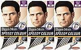 Bigen Men's Speedy Colour Noir Naturel 101 (lot de 3)
