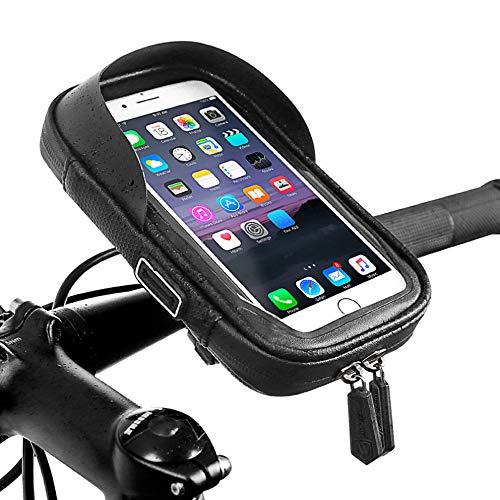 Bainuojia Wasserdicht Fahrrad Handyhalterung, 360°Drehbarem Handyhalter Lenkertasche Rahmentasche Halterung Motorrad Bike Lenker Tasche Für 6 Zoll Handys GPS Navi Andere Geräte
