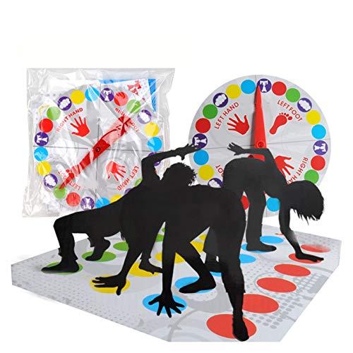 UYTTlhk Twister Juego, Twister Fun Balance Board Juego, Familia Reunidos Juguetes Juguetes, Ejercicio Balance y Flexibilidad Fiesta Juegos para niños/Adultos