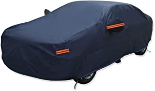 YITAMOTOR Waterproof Car Cover PEVA Cotton Lining All Season Protection Rain Sun Wind Dustproof Indoor Outdoor Use Fits Cars up to 192'' (Dark Blue)