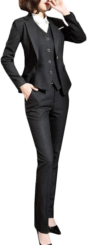MacondooCA Women's Casual One Button Jacket Work Pants Coat Suit Sets