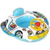 JYCAR Flotador inflable de la piscina del asiento, barco flotante del anillo de la natación del agua, flotador inflable del coche con el volante, piscina flotante del agua para los niños