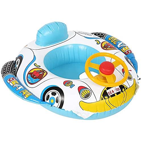 JYCAR Opblaasbare zwemmen Float Seat Boat, Water Zwemmen Ring Drijvende Boot, Opblaasbare Float Car met Stuurwiel…