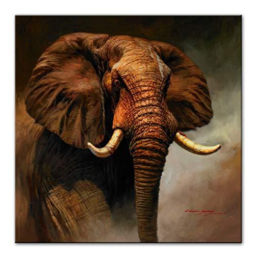ZMFBHFBH Elefante clásico Carteles e Impresiones Elefante Arte de la Pared Impresiones...