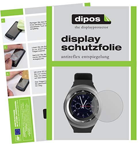 dipos I 2X Schutzfolie matt kompatibel mit TrendGeek TG-SW1 Smartwatch Folie Displayschutzfolie