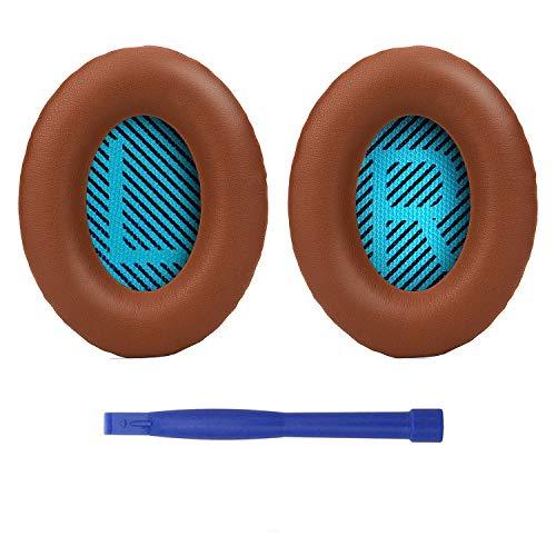 SoloWIT® Cuscinetti Cuffie di Ricambio Imbottiture, Cuscino Auricolari Compatibile con Bose Cuffie Over-Ear QuietComfort 15 QC15 QC25 QC2 QC35/ Ae2 Ae2i Ae2w SoundTrue & SoundLink