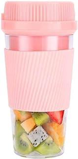 HMBSTST ミキサー ジューサー 小型 スムージー 氷も砕ける USB充電式 コードレス ブレンダー 300mlプラスチック製のボトル そのまま飲める 栄養補充 アウトドア/旅行/ピクニック/オフィスなど適用 ピンク