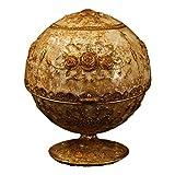 LAOJUNLU - Joyero de cobre puro con incrustaciones de oro dorado con incrustaciones de piedras preciosas Cloisonne imitación bronce antiguo