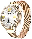 Reloj inteligente redondo para mujer con oxímetro presión...