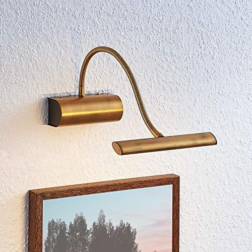 Lindby LED Wandleuchte, Wandlampe Innen 'Rakel' (Modern) in Bronze aus Metall u.a. für Wohnzimmer & Esszimmer (1 flammig, A+, inkl. Leuchtmittel) - Bilderleuchte, Wandstrahler, Wandbeleuchtung
