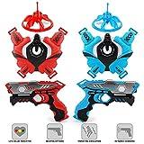 Laser Tag Gun Set for Kids, Infrared Laser Guns and Vests Mini Drones Set of 2