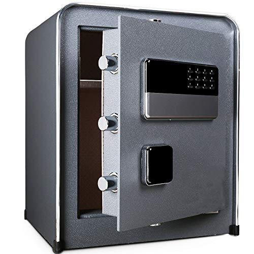 LERDBT Kabinett Safe In der Wand Mini All Steel Nachttisches 45cm hoch sicheren Haushalt kleinen Safe Safe Für ID-Papiere (Farbe : Grau, Größe : 45x32x38cm)