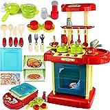 Soul hill Komplette Kochen Spielset for Kinder, Spielzeug for Kinder Spielküche Set Herd, Ofen und Geschirr for Mädchen im Alter von 1 bis 2, for Kinder