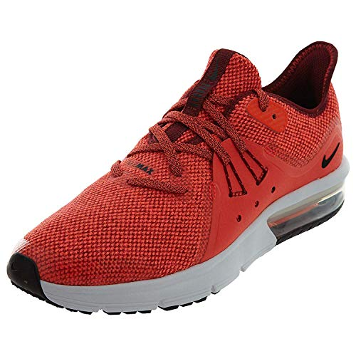 Nike Men's Air Max Sequent 3 (Gs) Running Shoes, Multicoloured (Team Red/Black/Total 600), 6 UK 6 UK