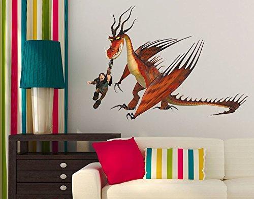 Klebefieber Wandtattoo Dragons Rotzbacke und Hakenzahn B x H: 71cm x 50cm