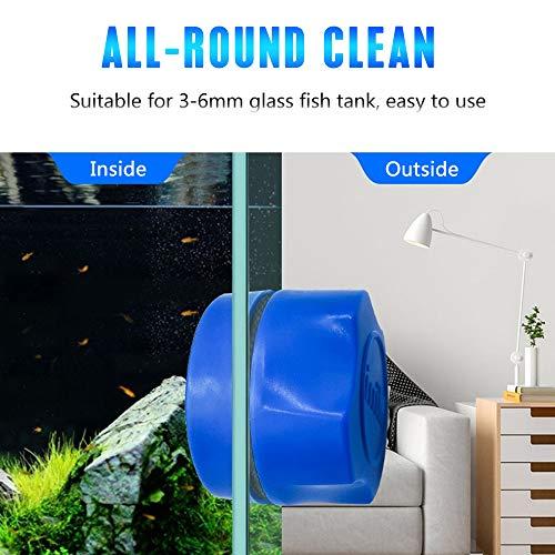 horen Magnetische Borstel met Gemakkelijk Handvat Aquariumvissen Tank Glazen Reiniger Borstel Float Glas Algen Schraper Reiniging Borstel Accessoires, Zwart