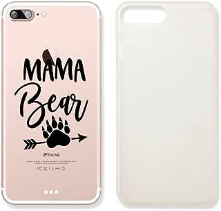 Mama Bear Rext Quote Clear Transparent Plastic Phone Case for iPhone 7PLUS 7 Plus_SUPERTRAMPshop (iPhone 7 Plus)