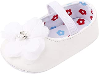 Hopscotch Girls PU Flower Applique Mary Jane in White Color