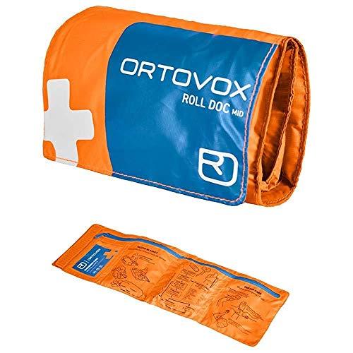 ORTOVOX Unisex– Erwachsene Roll Doc Mid Erste-Hilfe-Set, Shocking Orange, 15 x 7.5 x 6.5 cm