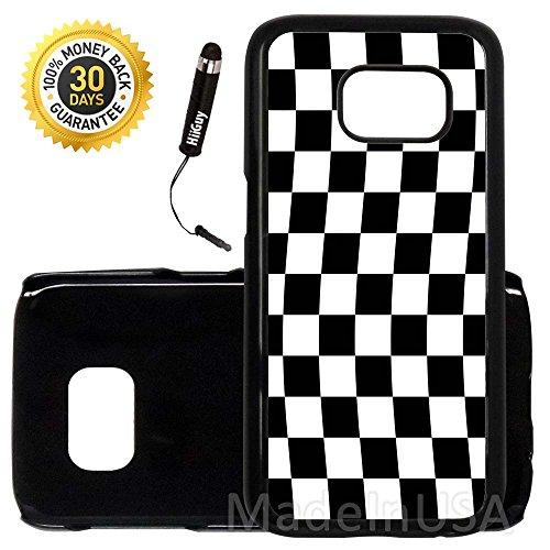 Custom Galaxy S7 Case (Checkered Flag Finish Line) Edge-to-Edge Plastic Black Cover Ultra Slim | Lightweight | Includes Stylus Pen by Innosub