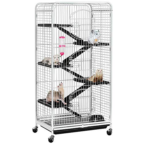 YAHEETECH 52-inch 6 Level Large Metal Ferret Cage...