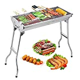MaSYZBF Barbecue Grill,Portable Large Capacity <span class='highlight'>Charcoal</span> Barbecue,Folding Stainless Steel Smoker BBQ,for Family Outdoor Cooking Camping Hiking Picnics Backpacking Garden Terrace Party with 5-15 People